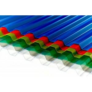 Монолитный профилированный поликарбонат 0,8 мм цветной