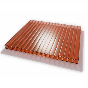 Сотовый поликарбонат коричневый 4 мм